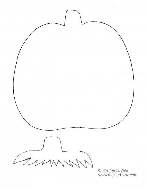 Felt Pumpkin Preschool Craft
