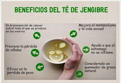 Propiedades del té de jengibre. El blog Vuestro lugar favorito nos apunta cuáles son los beneficios que el té de jengibre aporta a la salud. No te lo pierdas.