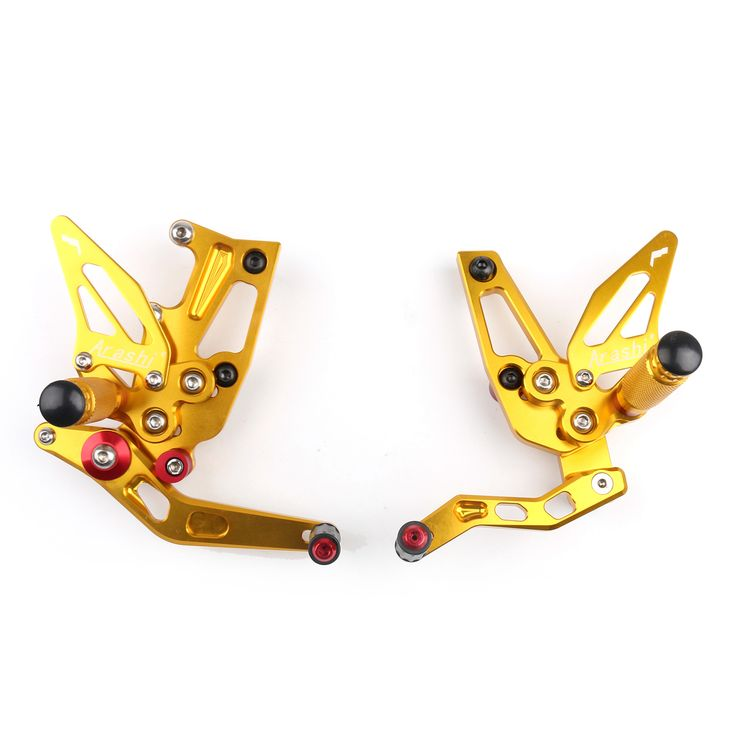 Mad Hornets - CNC Adjustable Rearsets Rear Set Footpeg Triumph Speed Triple 1050 (2011-2014) Gold, $159.99 (http://www.madhornets.com/cnc-adjustable-rearsets-rear-set-footpeg-triumph-speed-triple-1050-2011-2014-gold/)