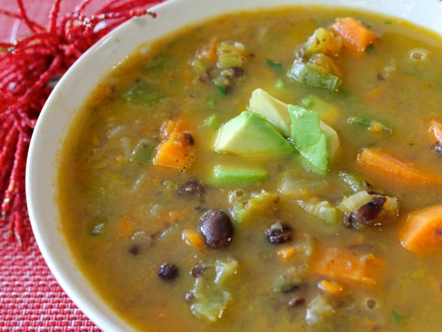 ... sweet potato black bean black bean sweet potato and red quinoa soup an