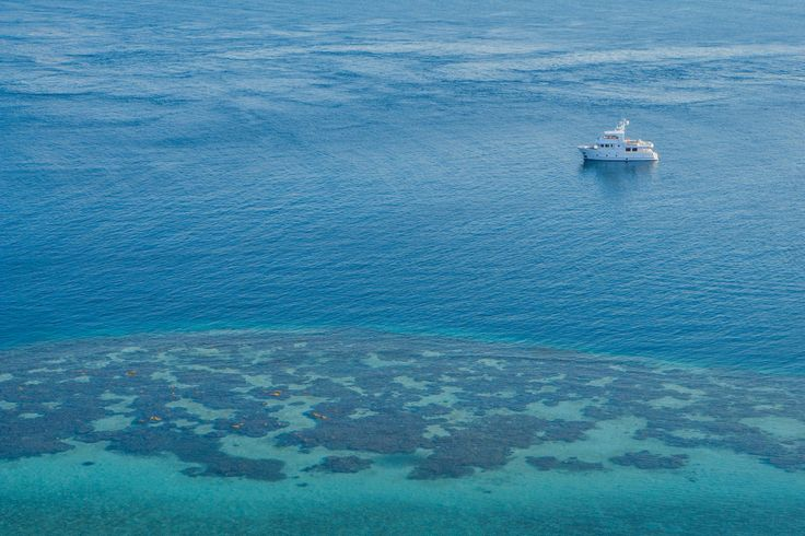 beautiful ocean in expedition yacht