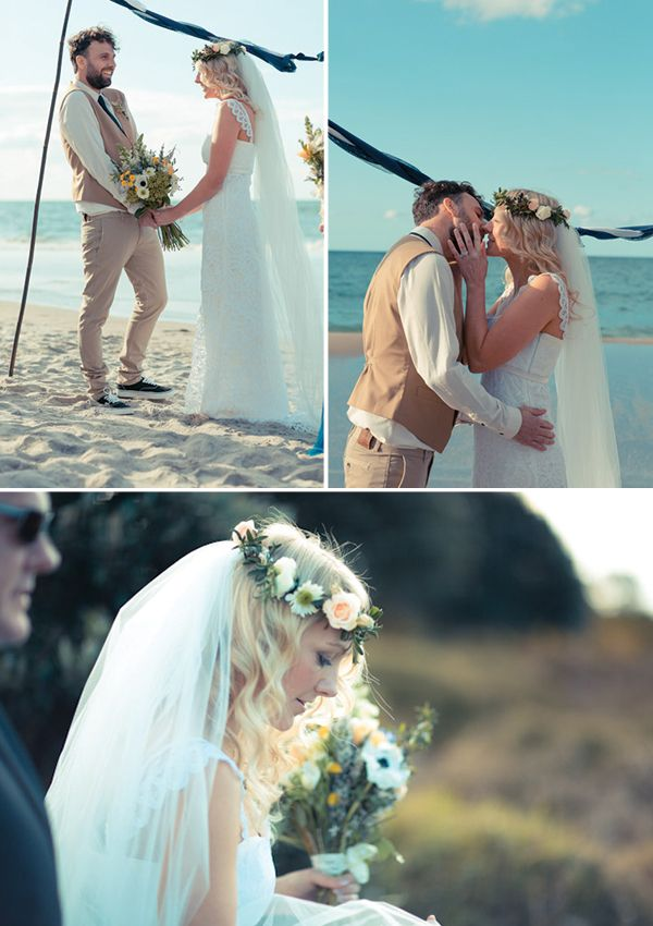 Flower crown - Relaxed Beach Wedding by Swift & Click by Claire Mossong Photography