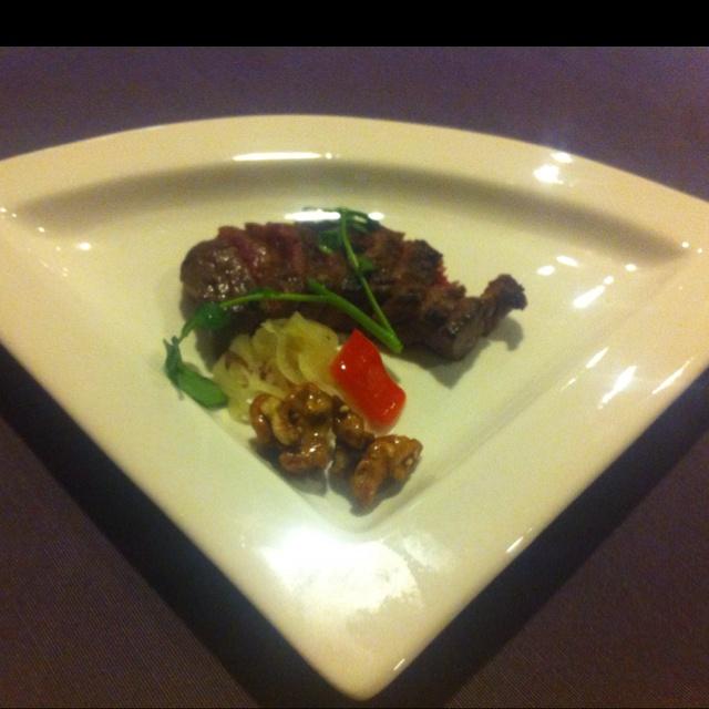 Beef steak tasted Miso. 味噌漬けステーキ
