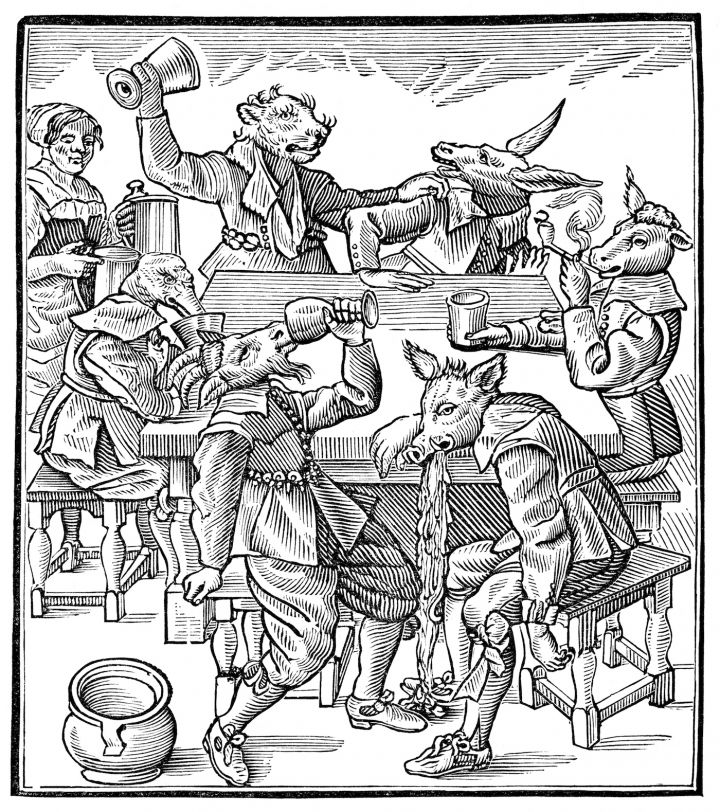 """""""Philocothonista, or the Drunkard, Opened, Dissected and Anatomized"""" (1635),  from 'Graven Images,' published by British Library"""