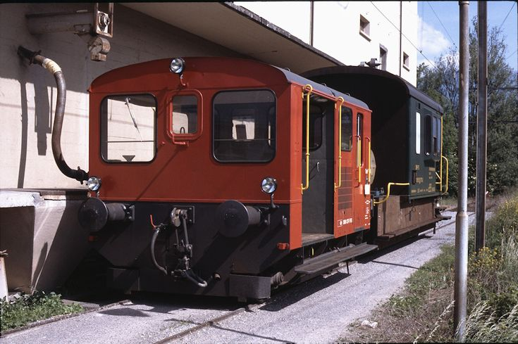 SBB Tm II 794 (23.05.1993, Buchs (SG), mit Unkrautvertilgungswagen)