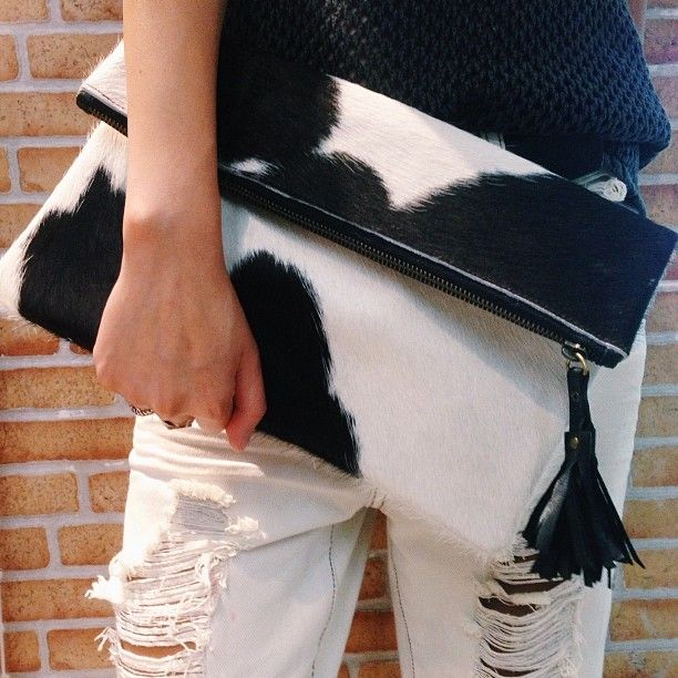 Fold over cow hide clutch by tonimay - got it thanks Ryan! :)