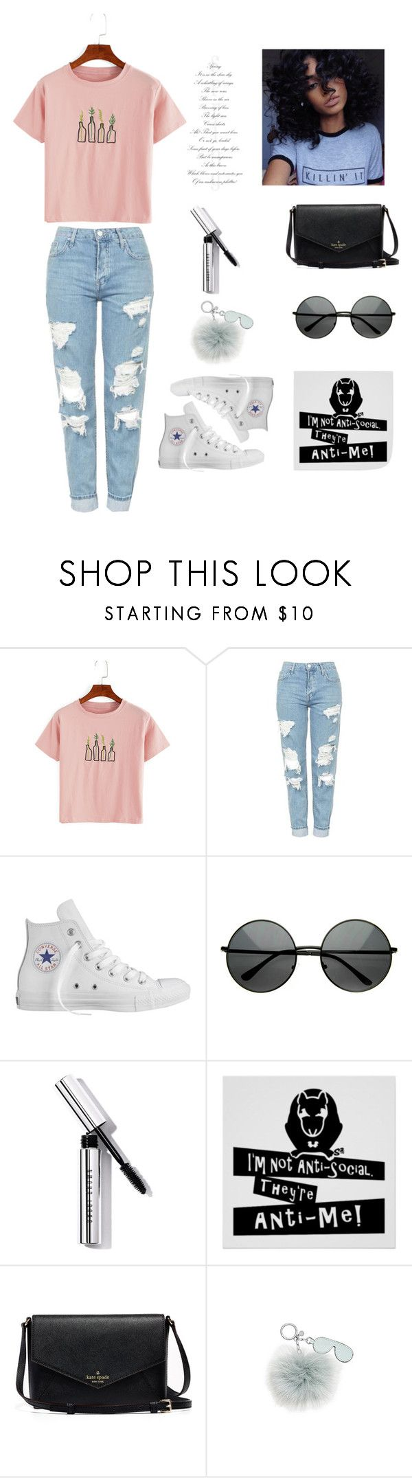 """"""""""" by fashiongurugirl16 ❤ liked on Polyvore featuring Topshop, Converse, Bobbi Brown Cosmetics and Michael Kors"""