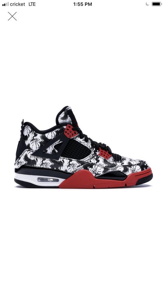 Nike Air Jordan 4 Retro Tattoo Singles Day Size 10 Black Fire Red