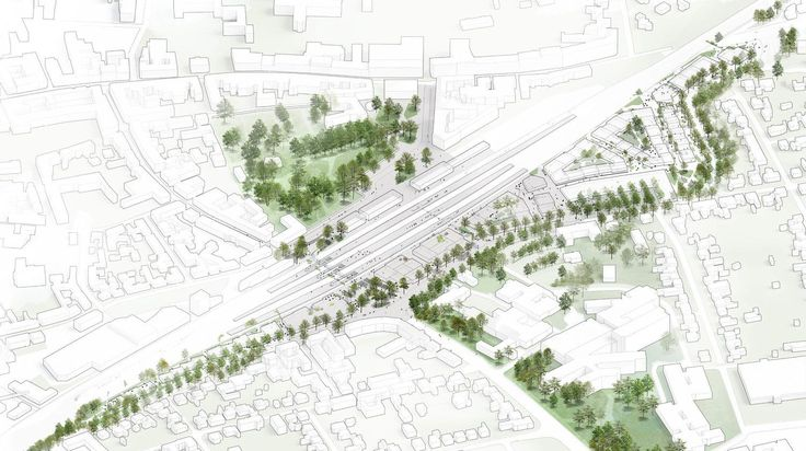 Roskilde Station Area #UrbanDesignarchitecture