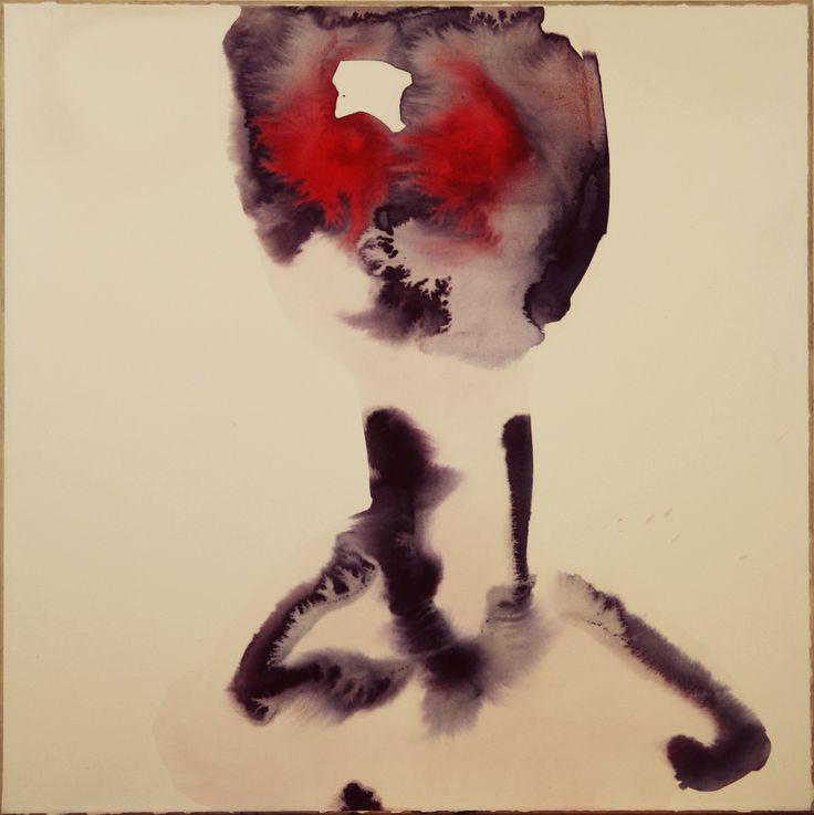 Maciej Olekszy, Bez tytułu ( z cyklu -  Żelazny Piec ), akwarela, papier naklejony na płótno, 50 x 50 cm, 2010 (7)