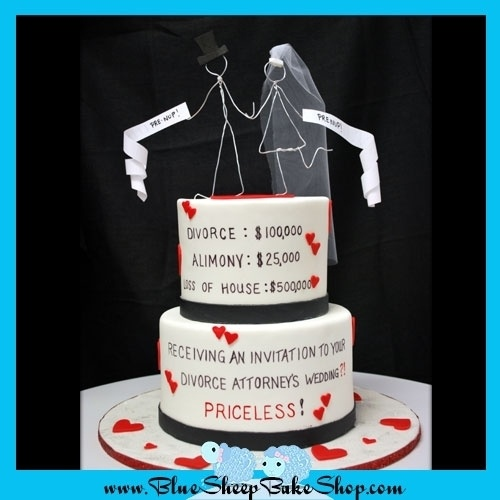 Divorce Attorney Cake