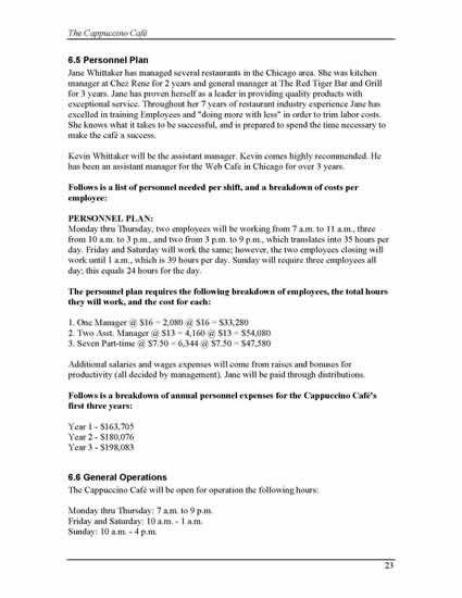 Printable Sample Business Plan Sample Form
