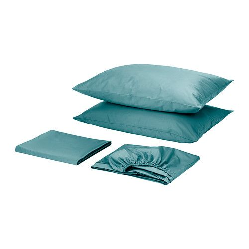 If duvet is grey, maybe do sheets in accent colour? Haven't decided what that is yet, but here's a reminder. Or get the grey sheets. GÄSPA Sheet set - Full/Double  - IKEA
