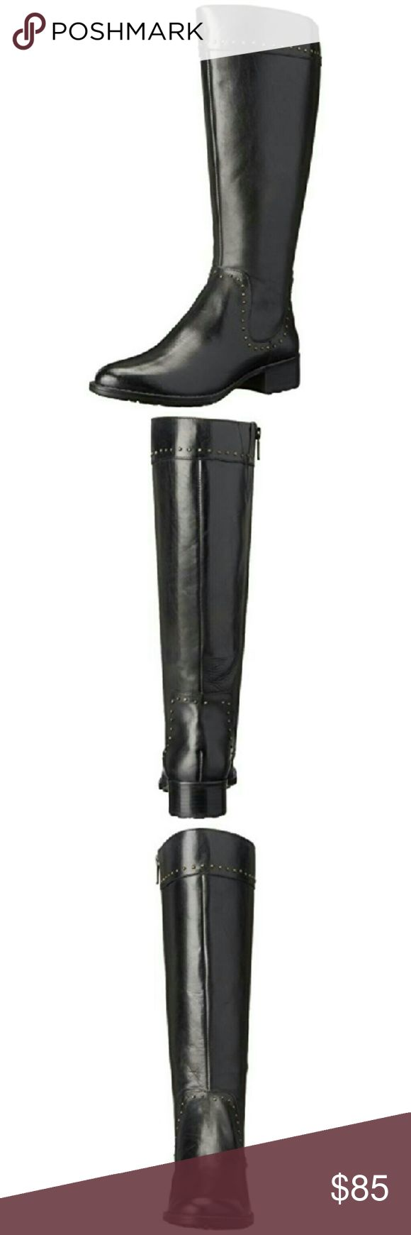 Joan & David Talaro Black Riding Boots NEW 6M Joan & David Womens Talaro Black Riding Boots Shoes 6 Medium  Manufacturer: Joan & David  Size: 6 Medium (B,M)  Manufacturer Color: Black  Retail:$189.00 ConditionNew with box Style Type:Riding, EquestrianCollection:Joan & David Shoe Width:Medium (B, M) Heel Height :1 1/2 Inches Platform Height :1/4 Inches Shaft Height:15 Inches Shaft Width (Inches):15 1/2  Closure:Side Zipper Material:Leather Upper/Balance Man MadeFabric Type:Leather Specialty…