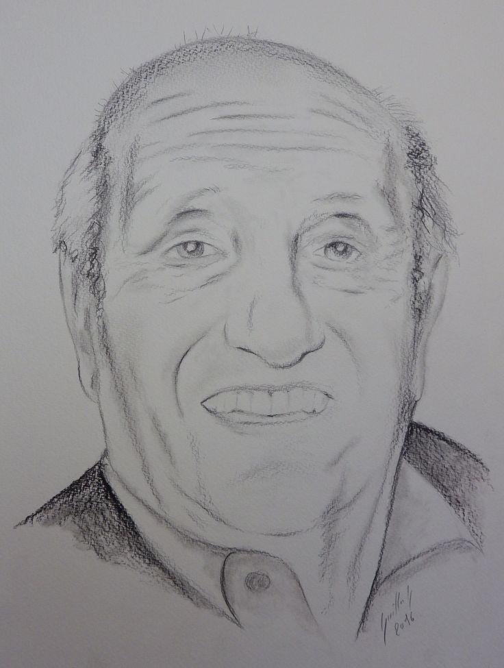 Pierre Tchernia. Dessin au crayon