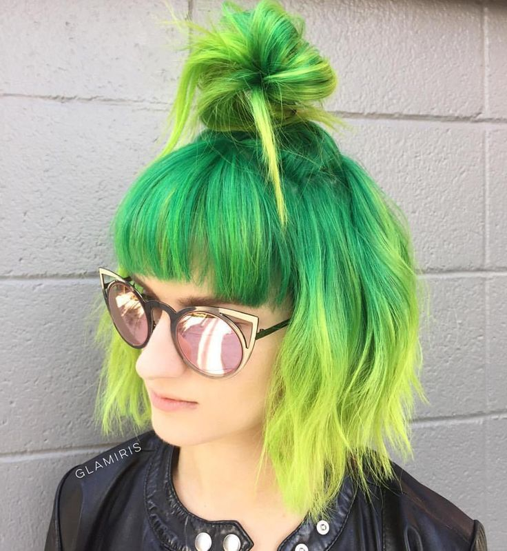 top+knot+for+short+green+hair