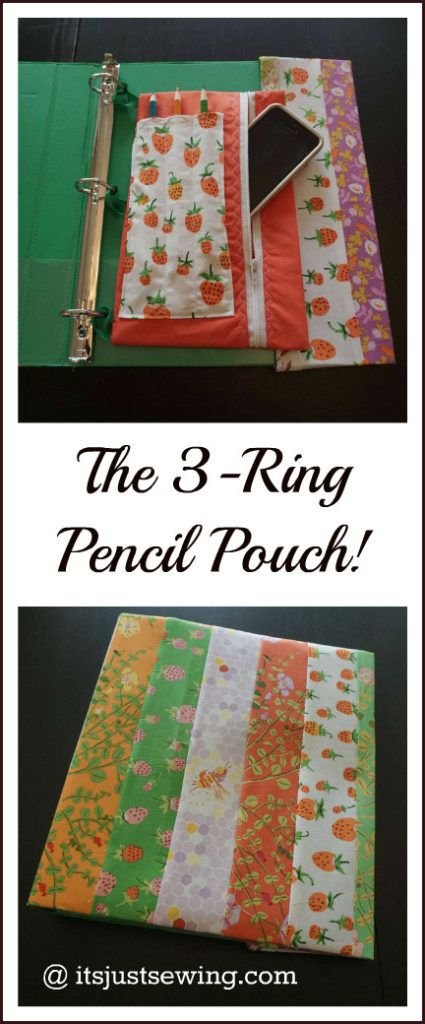 the 3 ring pencil pouch pinterest