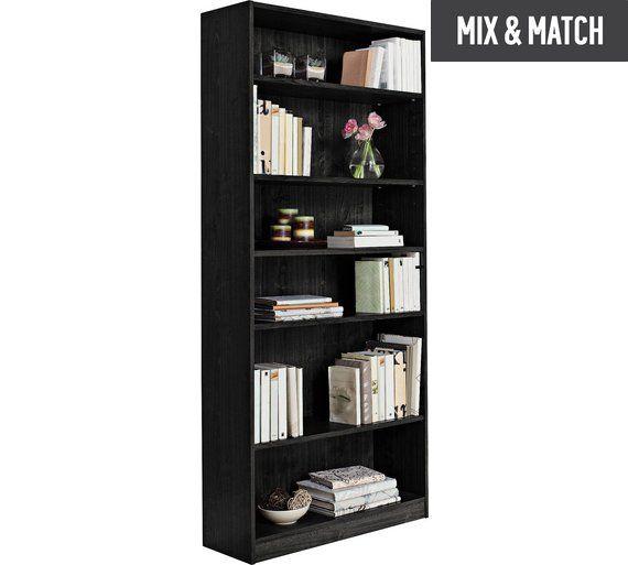 Buy HOME Maine 5 Shelf Tall Wide Extra Deep Bookcase - Black at Argos.co.uk, visit Argos.co.uk to shop online for Bookcases and shelving units, Living room furniture, Home and garden
