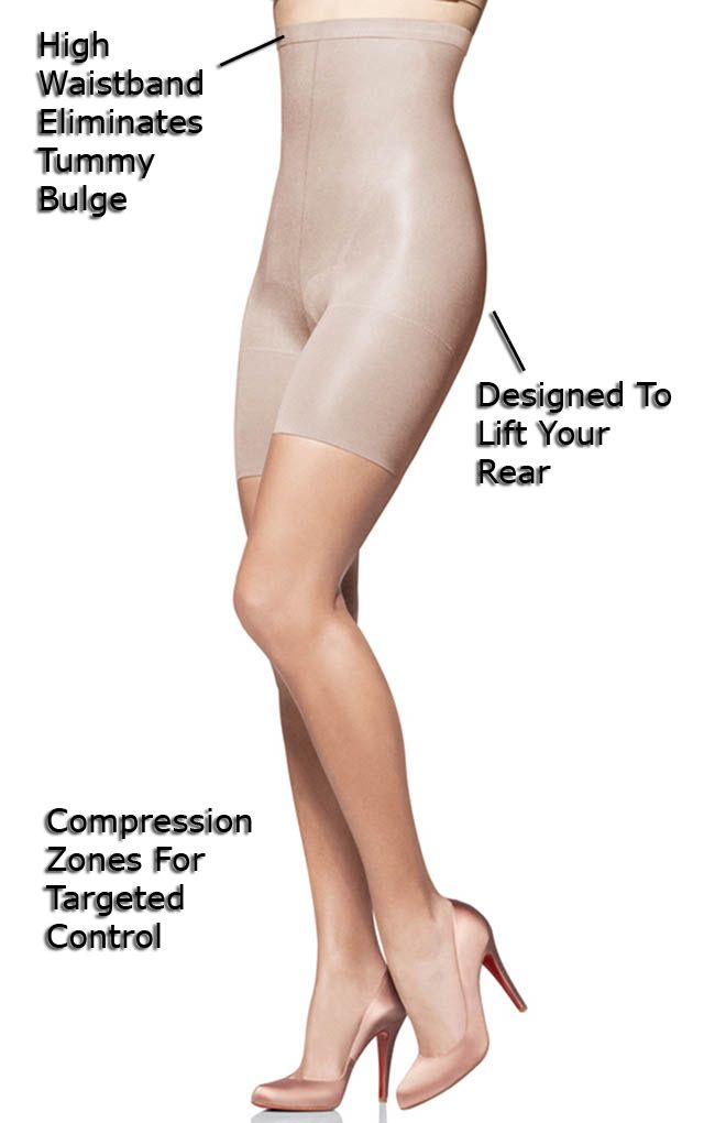 Create an hourglass silhouette with SPANX In-Power Line Super Higher Power Panties!