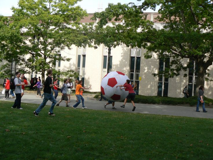 UBC Engineering students having some fun on campus