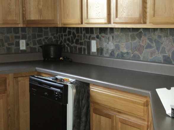 Broken Slate Mosaic Backsplash I D Do It In A Minute But My Husband