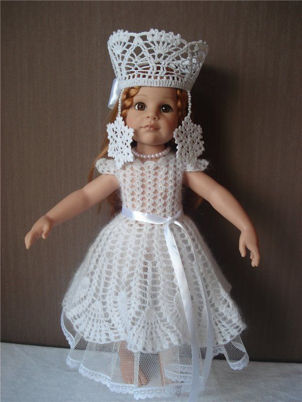 Новогодний костюм Снежной королевы для куклы / Одежда и обувь для кукол - своими руками и не только / Бэйбики. Куклы фото. Одежда для кукол