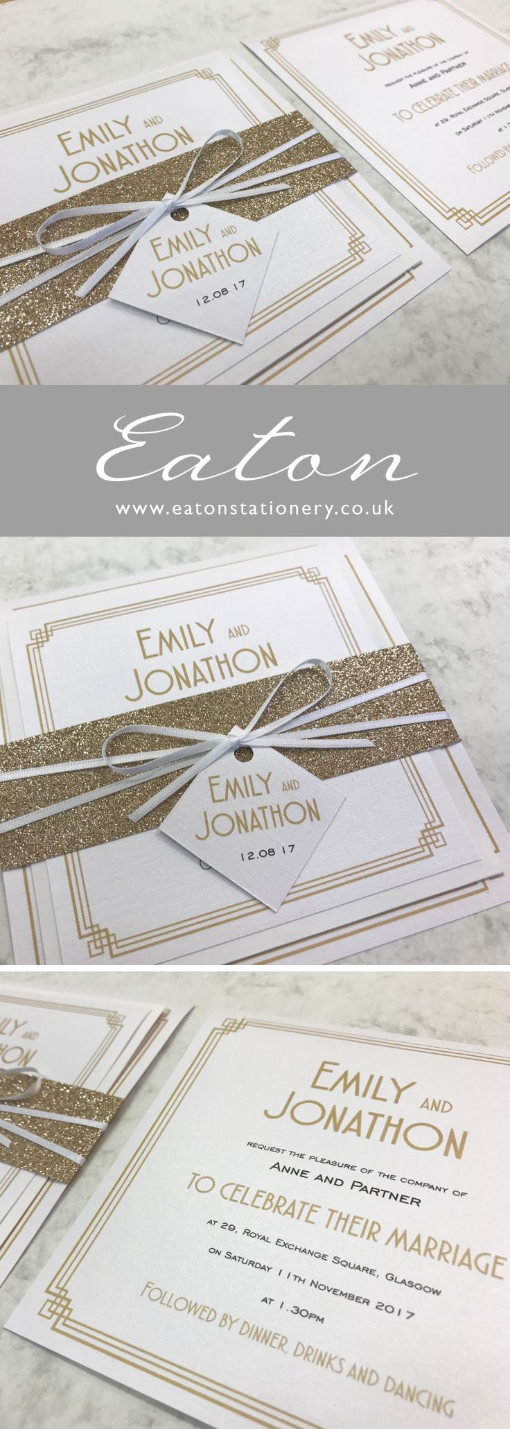 The 25 best Art deco wedding stationery ideas on Pinterest