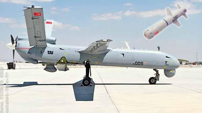 Milli iHA'ya yerli füze  İnsansız Hava Aracı (İHA) ANKA'nın silahlandırılmasıyla ilgili çalışmalar tamamlandı. ANKA'lar yüzde 100 Türkiye üretimi Bozok füzelerini kullanacak.