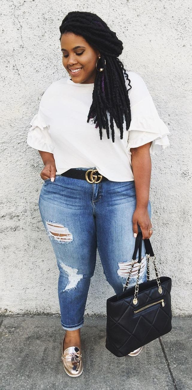 30d4e992628fd Casual Jeans Look With White T-Shirt