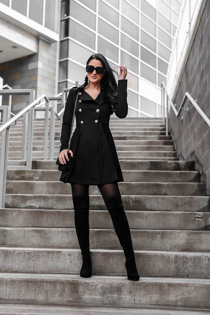Tips On How To Wear A Black Trench Coat Dress Dressed To Kill Trench Coat Dress Trench Coats Women Winter Coat Outfits [ 1104 x 736 Pixel ]