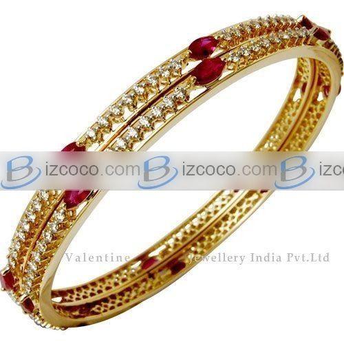 diamond bangles indian | ruby diamond bangles, indian wedding bangles pictures