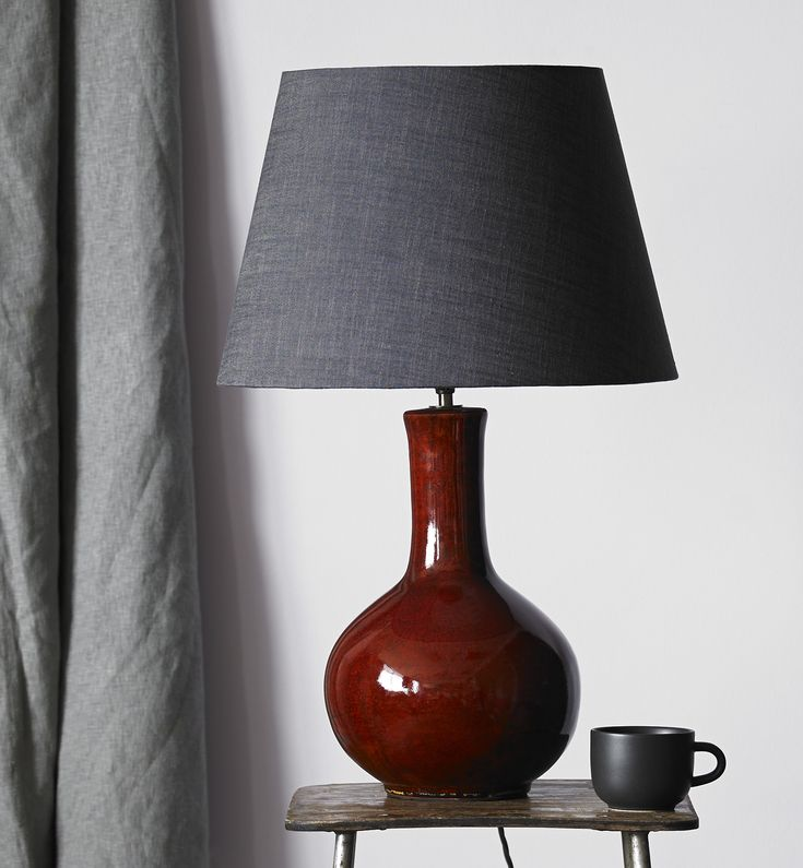 Nellie table lamp in an oxblood glaze ceramic lamps