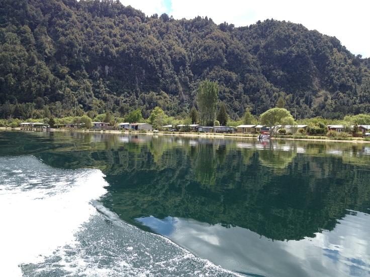 Cruising Lake Rotoma, NZ
