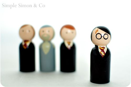 Harry Potter!Peg People, Crafts Ideas, Boys Crafts, Boys Peg, Book Character, Peg Dolls, Harry Potter, Potter Peg, Little Boys