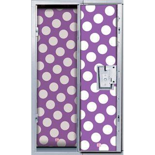 LockerLookz™ Magnetic Locker Wallpaper Set: Purple Dot