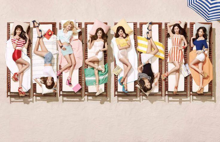 """Girls Generation modelan en la playa para relojes Casio """"Baby-G"""""""