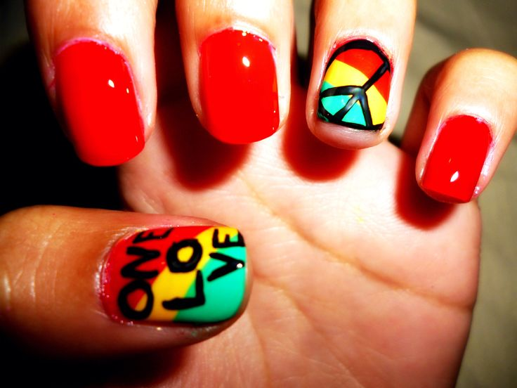 I don't paint my nails, but i like these colors. i would prefer a heart instead of a peace sign though :)