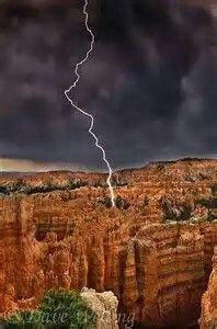 Lightning Strikes~Bryce Canyon National Park,Utah