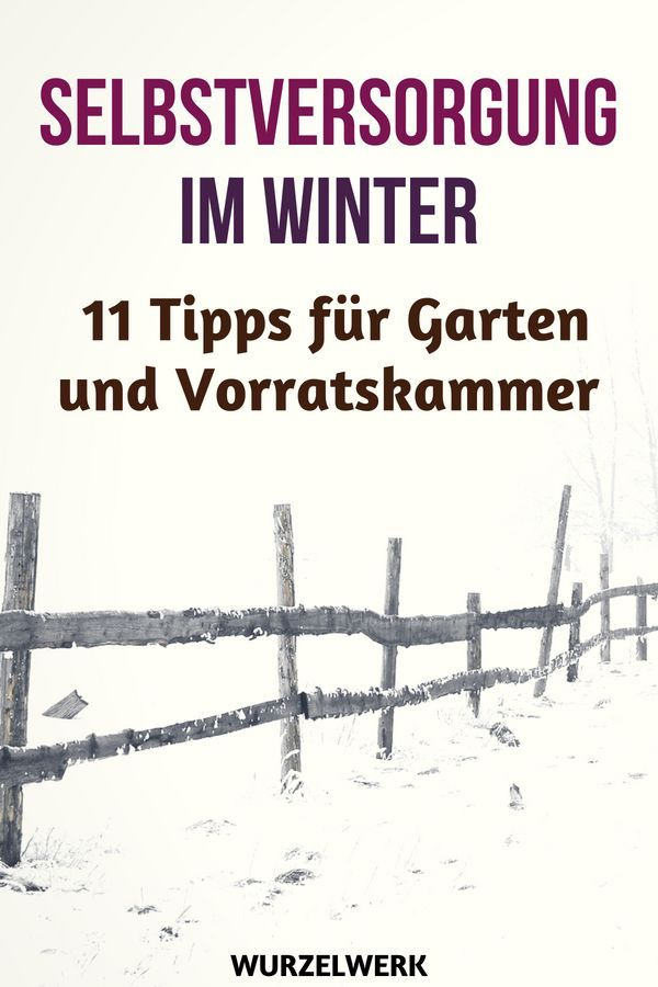 11 tips for self-sufficiency in winter