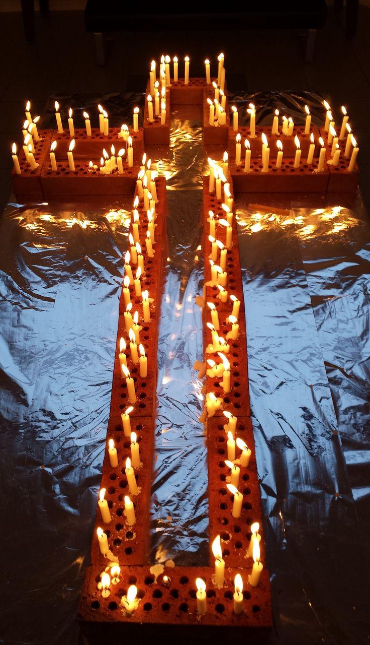 Memorial candles, Western Chapel in Lahti Finland, All Saints' Day 31st October 2015, muistokynttilöitä Lahden Läntisessä kappelissa pyhäinpäivänä 2015 (photo Arja Keskitalo)
