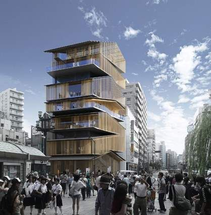 Asakusa culture and tourist center by kengo kuma 1