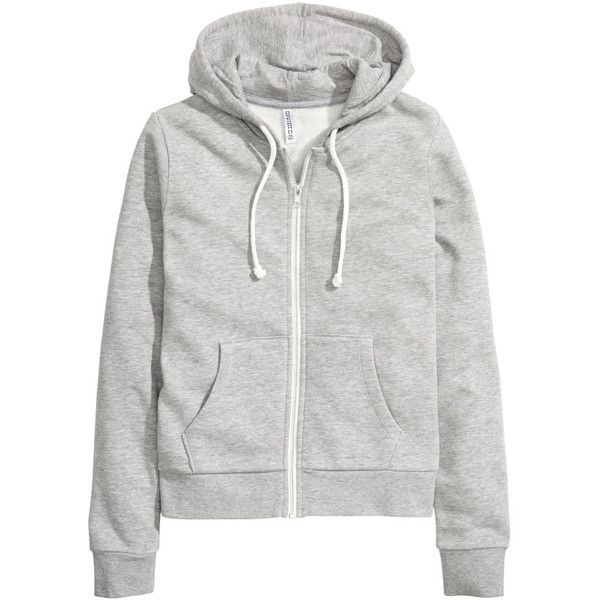 H&M Hooded jacket (25 CAD) ❤ liked on Polyvore featuring outerwear, jackets, hoodies, h&m, cotton jacket, zipper jacket, cotton lined jacket, lined hooded jacket and h&m jackets
