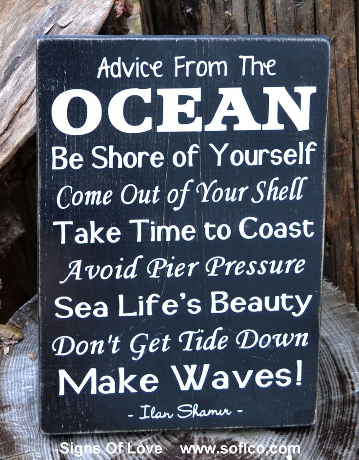 Beach Sign Decor Impressive Advice From The Ocean Sign Large Rustic Beach Decor  Signs Of Decorating Design