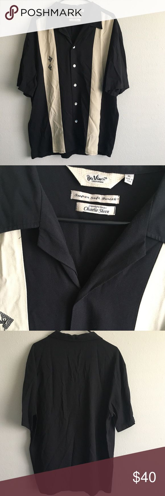 DaVinci XL Charlie Sheen signature series This is the shirt of a winner. Pairs nice with a basic pair of shorts while lounging around your Malibu beach house. No rips or stains, like new. davinci Shirts Casual Button Down Shirts