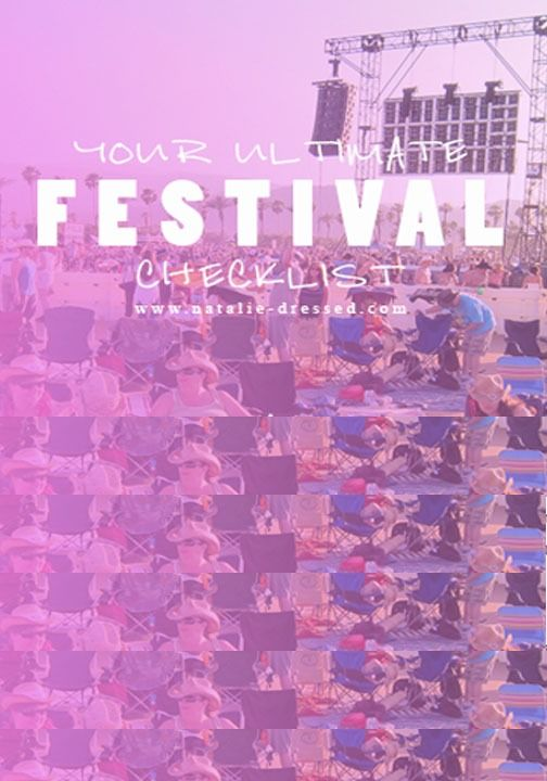 The ultimate music festival survival guide.