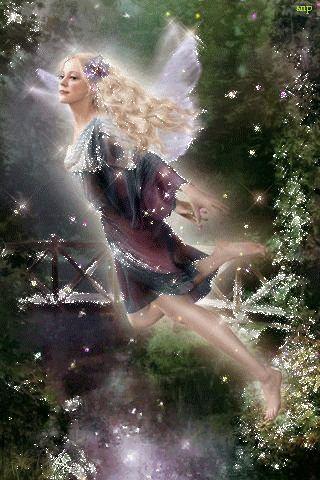 Девушка фея летит над водой! - анимация на телефон №1127098