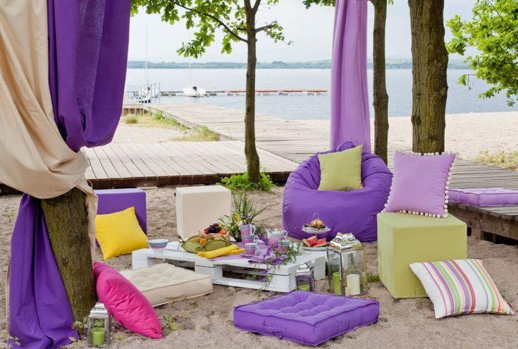Summer picnic!  #dekoriapl #summer #balcony #inspiration #decoration #diy #colorful #garden #interior #homedecor #decorations #romantic #rustical