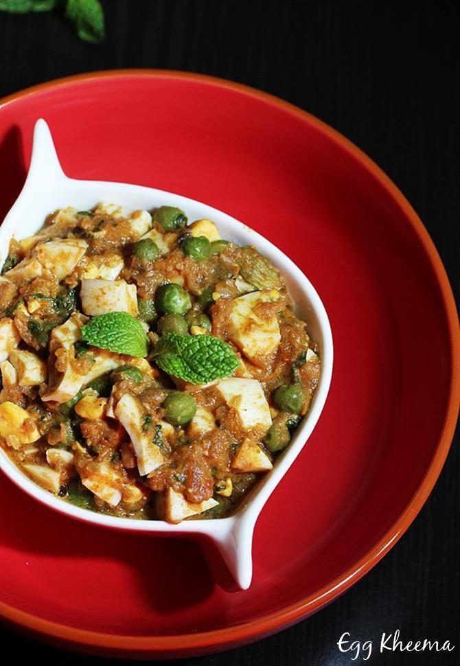 Egg keema recipe - How to make egg kheema curry