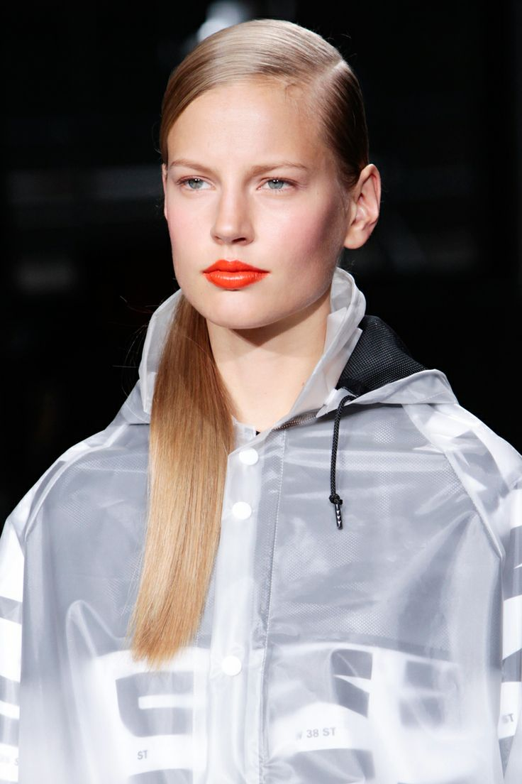 Orange Lips at DKNY SS14