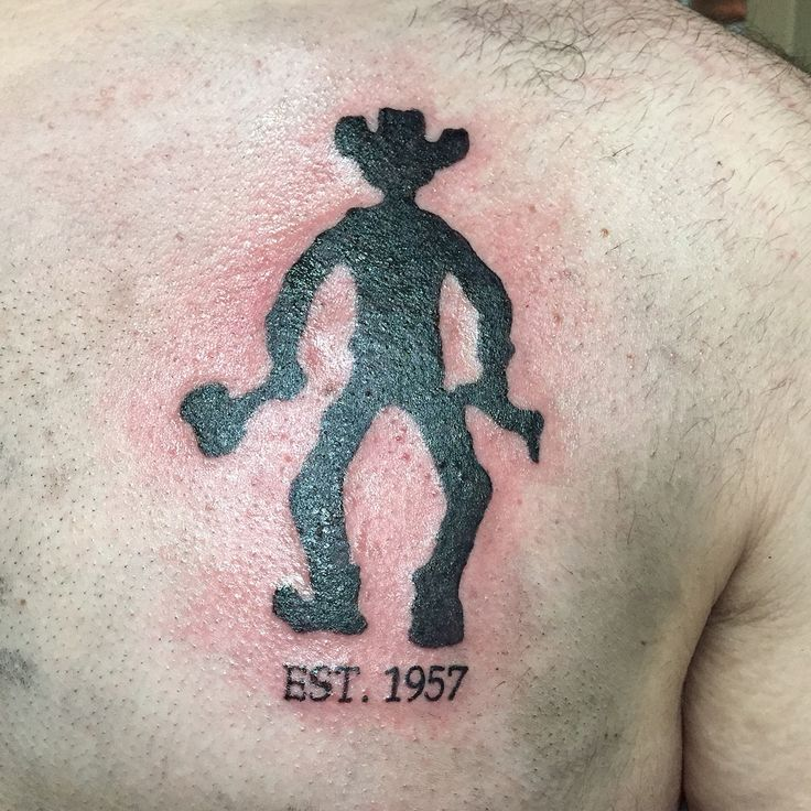 Grandfather memorial / cowboy tattoo